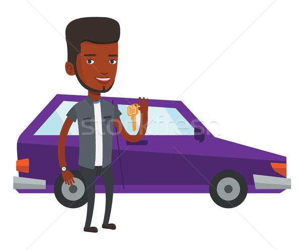 Hombre claves coche nuevo jóvenes feliz Foto stock © RAStudio
