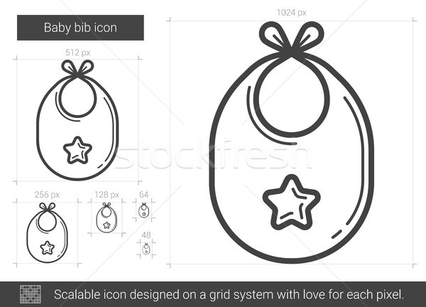 Baby bib line icon. Stock photo © RAStudio