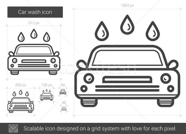 Car wash line icon. Stock photo © RAStudio