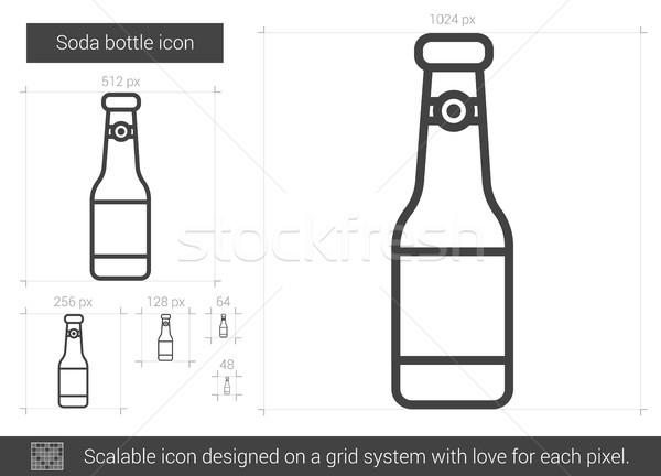 Soda şişe hat ikon vektör yalıtılmış Stok fotoğraf © RAStudio