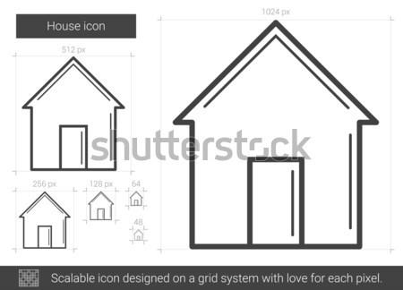 House line icon. Stock photo © RAStudio