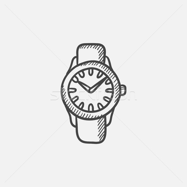 Wrist watch sketch icon. Stock photo © RAStudio