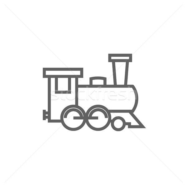 Train line icon. Stock photo © RAStudio
