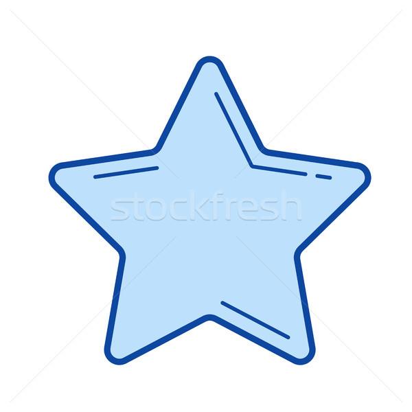 Music star line icon. Stock photo © RAStudio