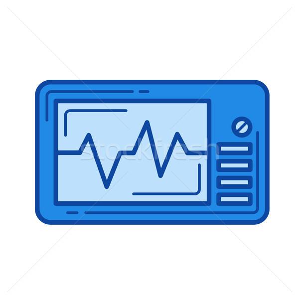 Cardio monitor lijn icon vector geïsoleerd Stockfoto © RAStudio