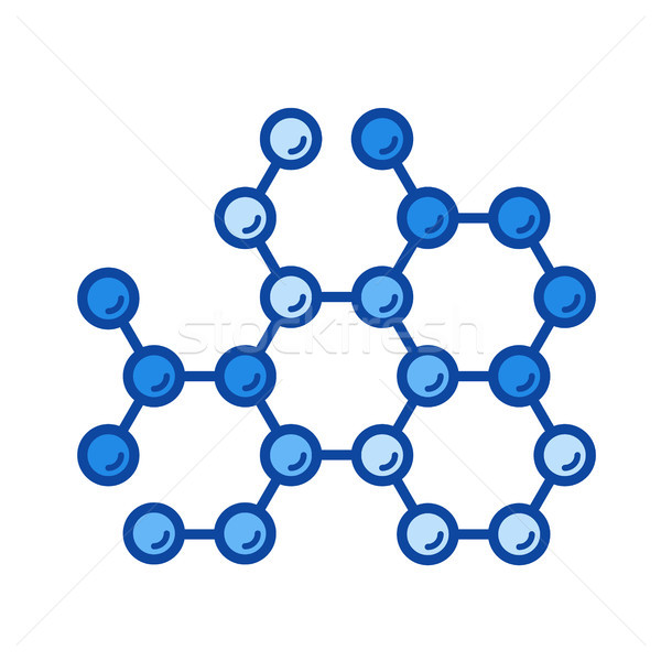 Molecular structure line icon. Stock photo © RAStudio