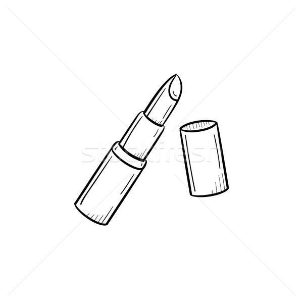 Lipstick hand drawn sketch icon. Stock photo © RAStudio