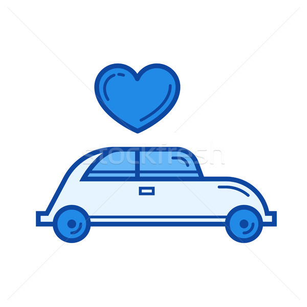 Just married line icon. Stock photo © RAStudio