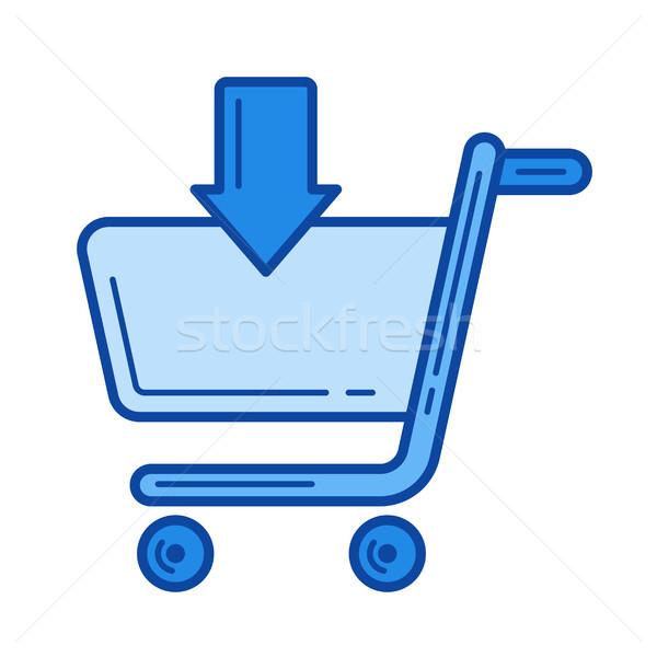Add to shopping cart line icon. Stock photo © RAStudio