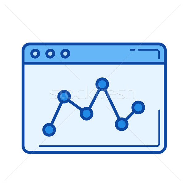 Data analytics line icon. Stock photo © RAStudio
