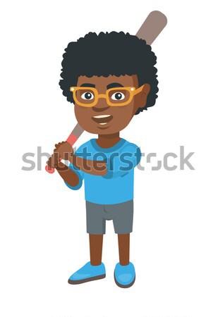 Triste menino dor de estômago africano pequeno tocante Foto stock © RAStudio