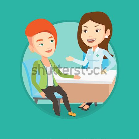 Young caucasain woman checking blood pressure. Stock photo © RAStudio