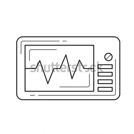 частота сердечных сокращений контроля вектора Cartoon иллюстрация Сток-фото © RAStudio