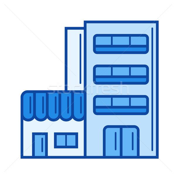 Hotel building line icon. Stock photo © RAStudio
