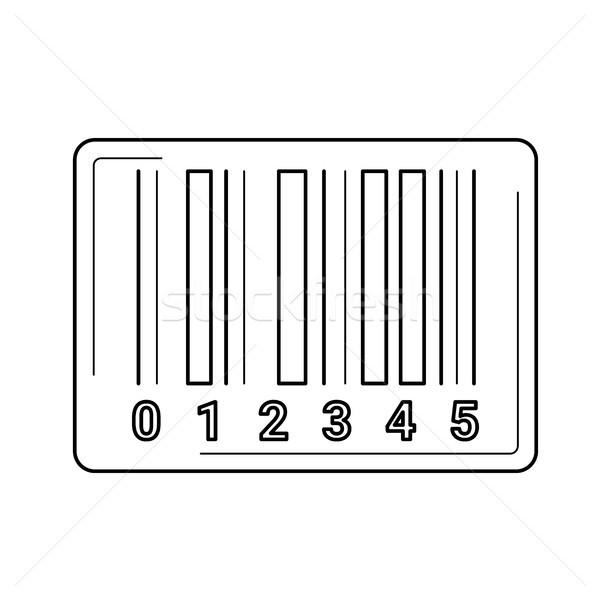 Vonalkód vonal ikon vektor izolált fehér Stock fotó © RAStudio