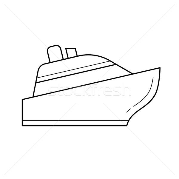 Nave da crociera line icona isolato bianco infografica Foto d'archivio © RAStudio