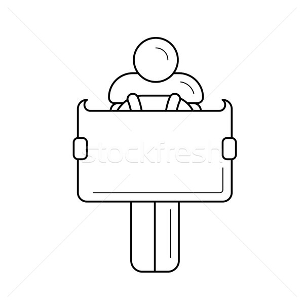 Map orientation line icon. Stock photo © RAStudio