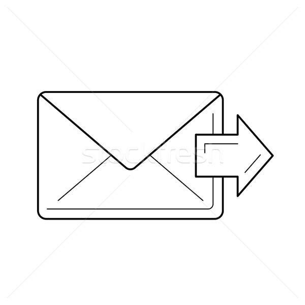 Vers l'avant courriel ligne icône vecteur isolé Photo stock © RAStudio