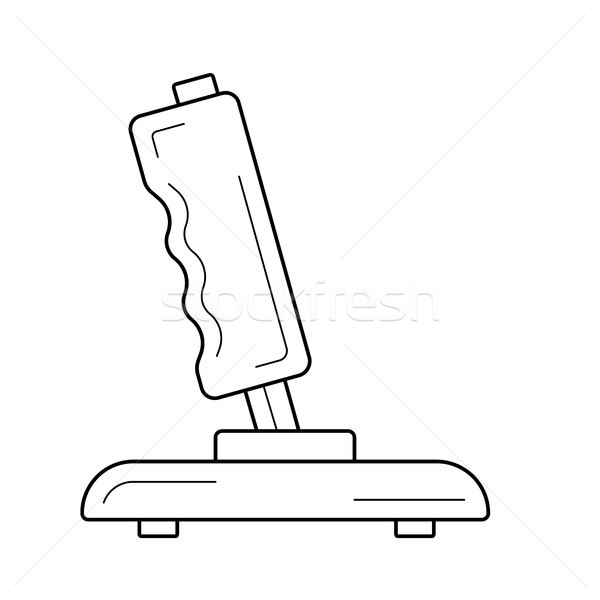 джойстик линия икона вектора изолированный белый Сток-фото © RAStudio