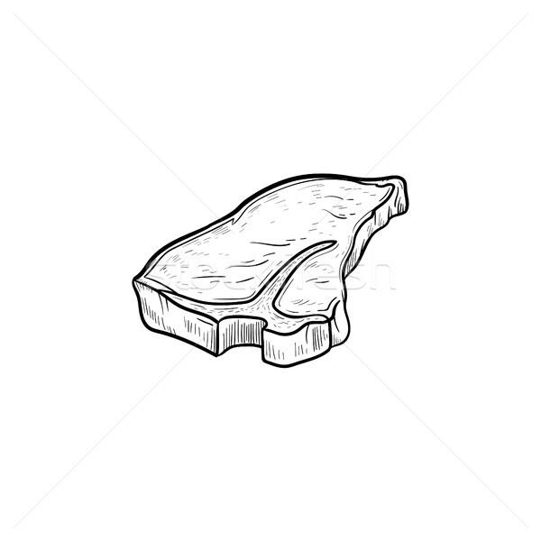 Bife esboço ícone rabisco Foto stock © RAStudio