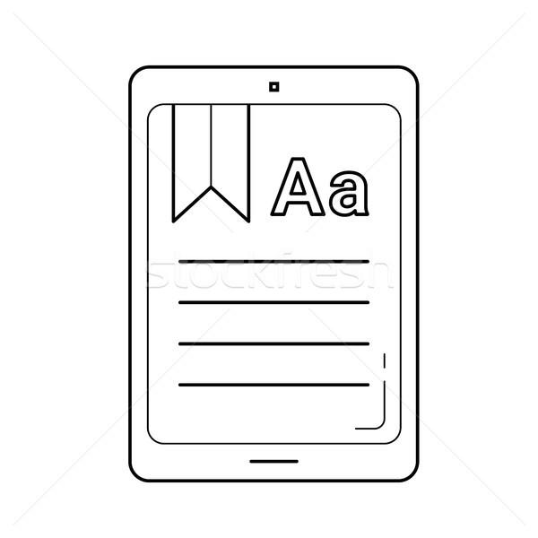 Ebook vetor linha ícone isolado branco Foto stock © RAStudio