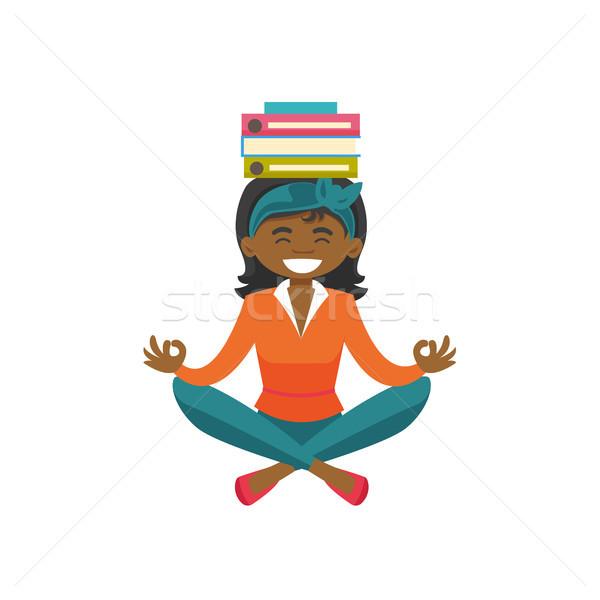 деловой женщины Lotus положение йога Сток-фото © RAStudio