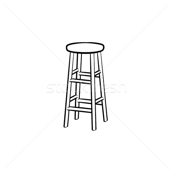 Barstool hand drawn sketch icon. Stock photo © RAStudio
