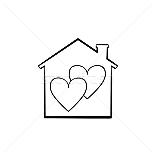 Sweet home hand drawn sketch icon. Stock photo © RAStudio