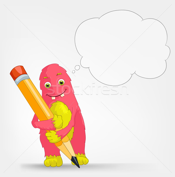 Funny Monster. Writer. Stock photo © RAStudio