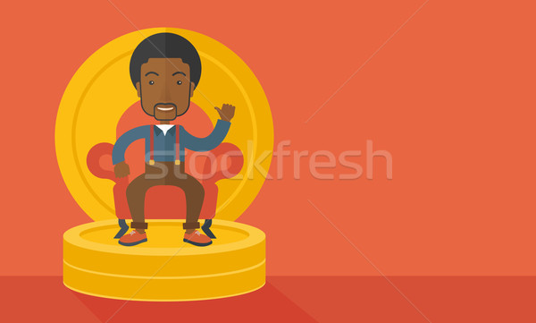 Successful african businessman. Stock photo © RAStudio