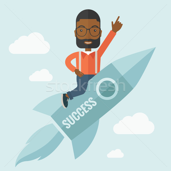 Black man in start up business. Stock photo © RAStudio