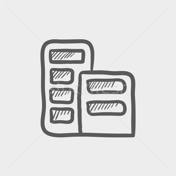 Office building sketch icon Stock photo © RAStudio