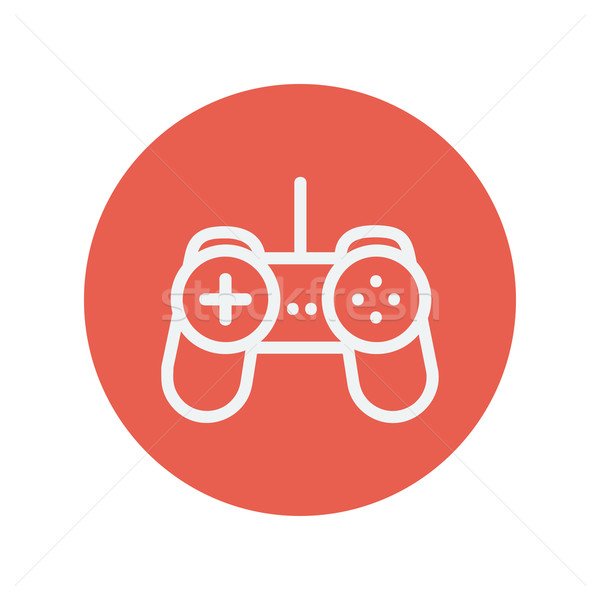 Joystick thin line icon Stock photo © RAStudio