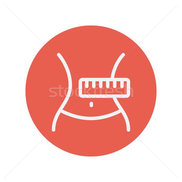 Slimming body with measuring tape thin line icon Stock photo © RAStudio