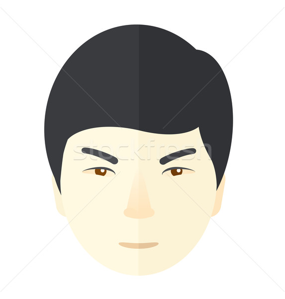 Angry japanese guy. Stock photo © RAStudio