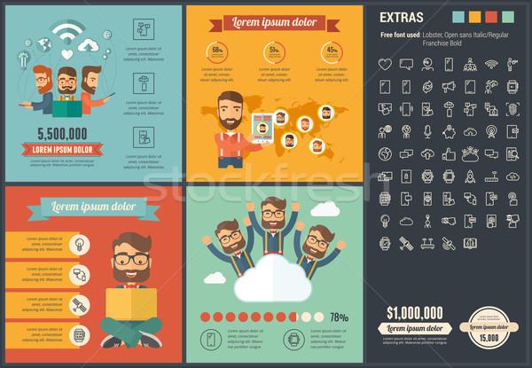 Mobiliteit ontwerp sjabloon communie illustraties Stockfoto © RAStudio