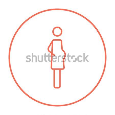 Pregnant woman icon drawn in chalk. Stock photo © RAStudio