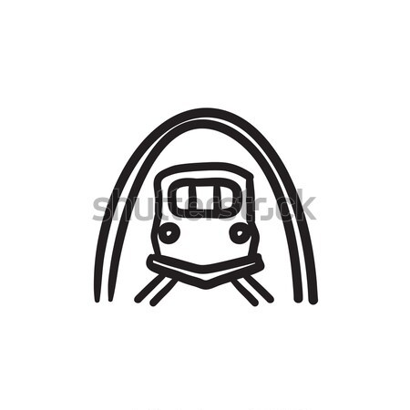 Railway tunnel line icon. Stock photo © RAStudio