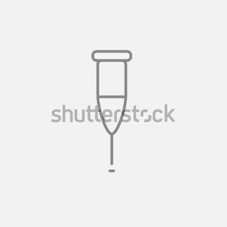 Muleta línea icono web móviles infografía Foto stock © RAStudio
