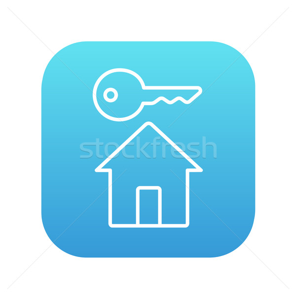 Stock photo: Key for house line icon.