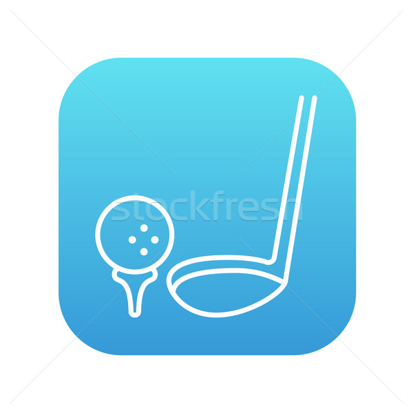 Golf ball and putter line icon. Stock photo © RAStudio