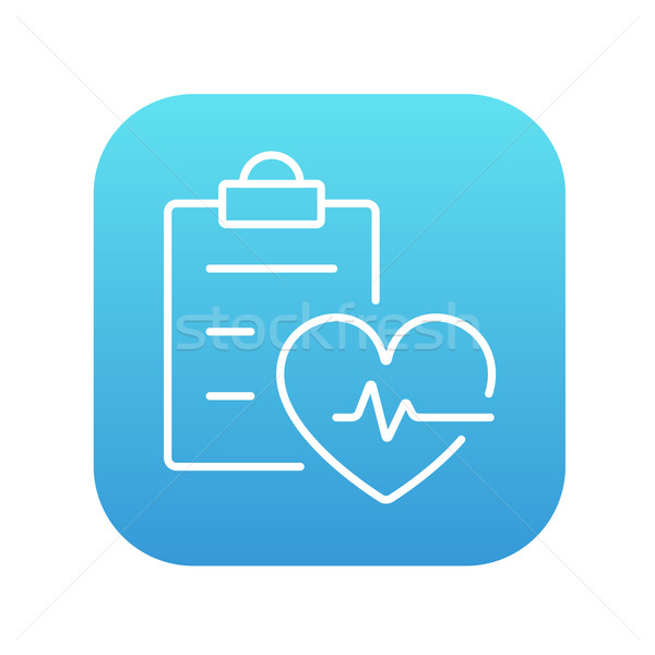 Heartbeat record line icon. Stock photo © RAStudio