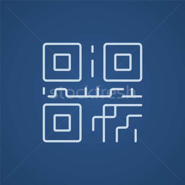 Qr code lijn icon web mobiele infographics Stockfoto © RAStudio