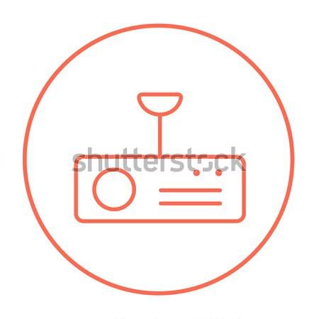 Digitális projektor vonal ikon háló mobil Stock fotó © RAStudio