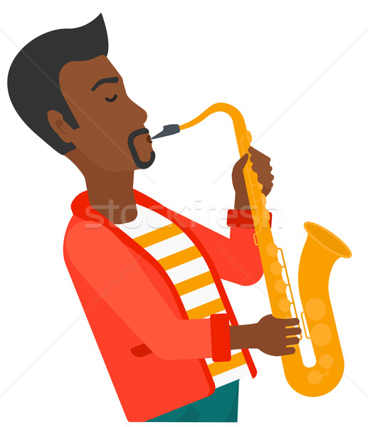 Man playing saxophone. Stock photo © RAStudio