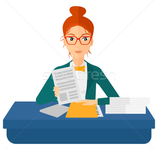 HR manager checking files. Stock photo © RAStudio