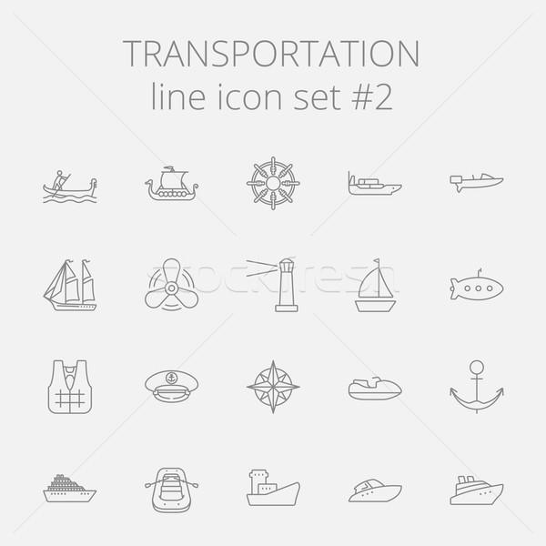 ストックフォト: 交通 · ベクトル · ダークグレー · アイコン · 孤立した