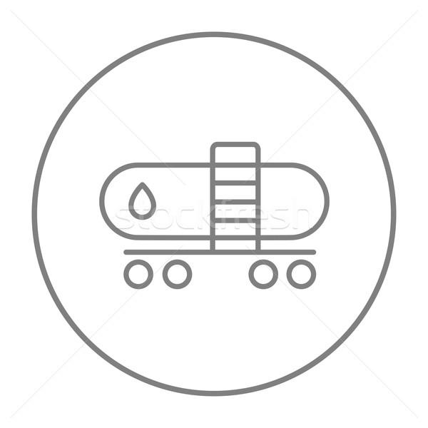 Petróleo tanque línea icono web móviles Foto stock © RAStudio