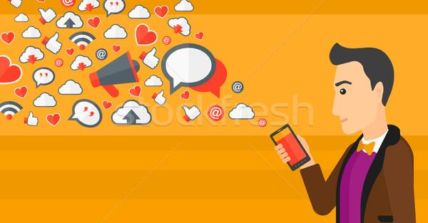 Social media applications. Stock photo © RAStudio