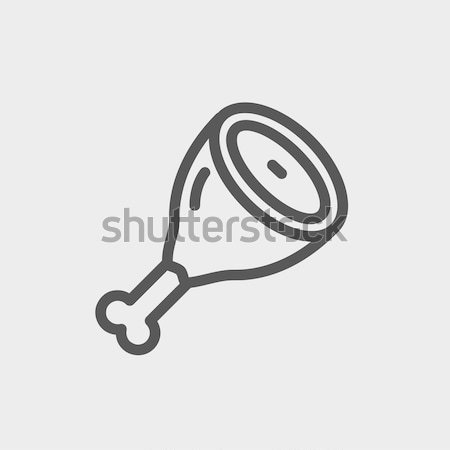 Meat line icon. Stock photo © RAStudio